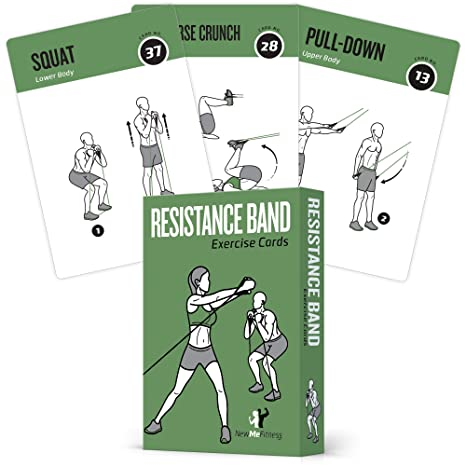 Resistance Band Tube Exercise Cards