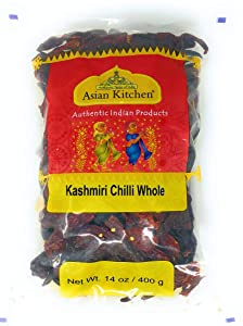 Asian Kitchen (By Rani Brand) Kashmiri Chilli Whole, Low Heat Indian Chilli 14oz (400g) ~ All Natural | Vegan | Gluten Free Ingredients | NON-GMO | Indian Origin