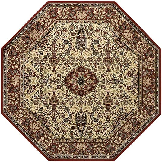 Couristan 3760 6004 Everest Ardebil Area Rugs, 9-Feet 2-Inch by 12-Feet 5-Inch, Red