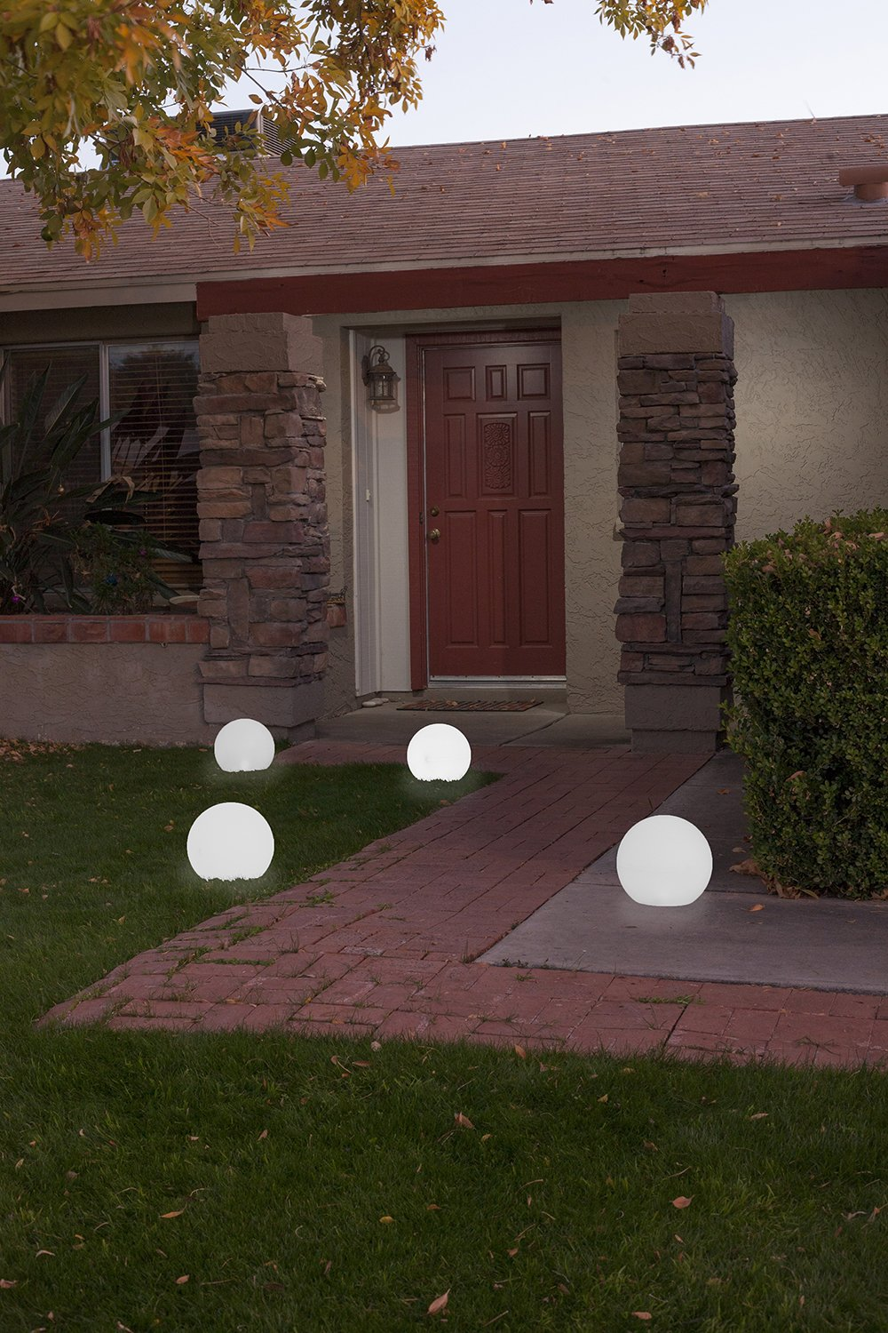 GalaxyGLO 9 inch Solar Powered Color Changing Globe for Pool or Patio - 2 pack by Sunsolar (Image #4)