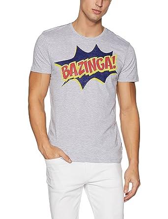 07a9fddc9c1264 The Big Bang Theory Men s T-Shirt (8903346769117 BI0FMT1478 Medium Grey  Mel. Indigo Slub)