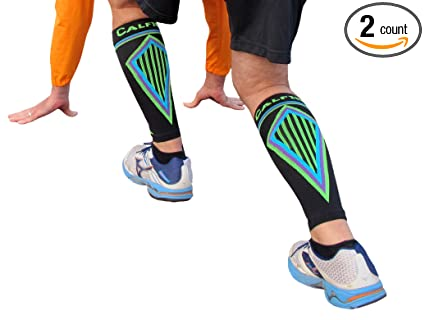 BETTER THAN KT TAPE for SHIN SPLINTS: Seriously Tight CALF COMPRESSION SLEEVES, Guard &