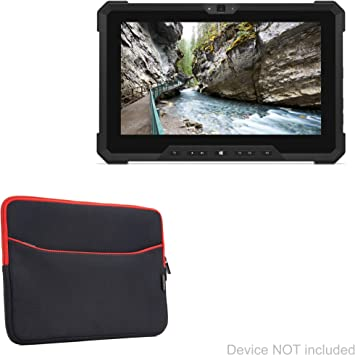 Amazon Com Dell Latitude 7212 Rugged Extreme Tablet Case Boxwave Softsuit With Pocket Soft Pouch Cover W Sleeve For Dell Latitude 7212 Rugged Extreme Tablet Jet Black With Red Trim Electronics