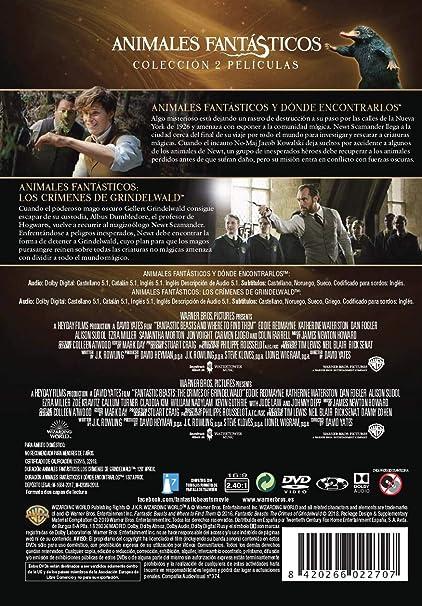 Animales Fantasticos Y Como Encontrarlos + Animales Fantásticos: Los Crímenes De Grindelwald DVD: Amazon.es: Eddie Redmayne, Johnny Depp, Katherine Waterston, Dan Fogler, Jude Law, David Yates, Eddie Redmayne, Johnny Depp: Cine y