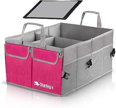 Scomparti Regolabili e Fondo Impermeabile Antiscivolo Super Resistente e Durevole Organizer Bagagliaio per Auto Starling: Ecologico SUV Carico Box per Auto Camion Pieghevole