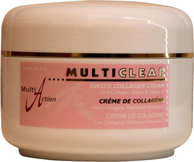 Crema Corporal de Colágeno MULTICLEAR - 500ML. Con elastina para retardar el envejecimiento de la piel: Amazon.es: Belleza