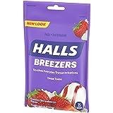 Halls Breezers Drops, Creamy Strawberry, 25-Count