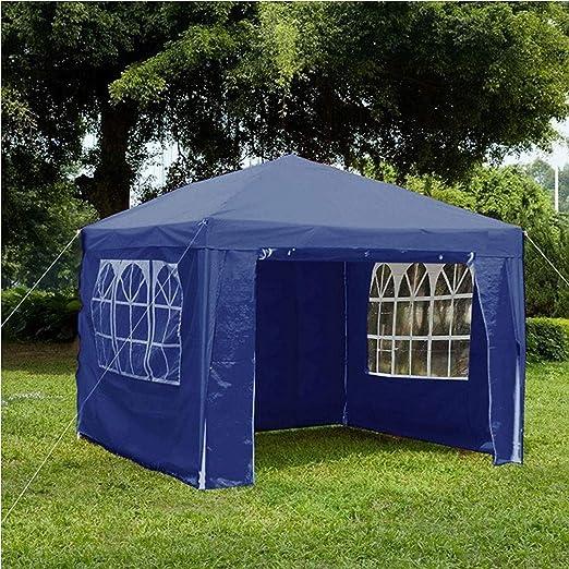 Gr8 Garden 70747-BLUE Gr8-Cenador de jardín con Laterales Impermeables para Playa, Fiesta, Festival, Camping, Boda, toldo de 3 x 3 x 2, 45 m, Color Azul: Amazon.es: Jardín