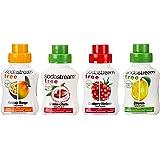 Sodastream  Free - die kalorienarme Erfrischung mit Maracuja-Mango, Cranberry-Himbeere, Grüntee-Litschi und Zitrone, 4er Pack (4 x 375 ml)