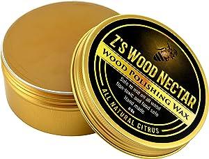 Z's Wood Nectar - Furniture Polish - Natural/Non-Toxic - Wood Seasoning Beeswax - Butcher Block Countertop - Paste Wax - Beeswax - Tung Oil - Carnauba Wax - Citrus Essential Oil