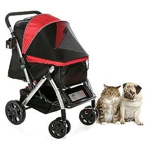 HPZ Pet Rover Premium Heavy Duty Dog/Cat/Pet Stroller Travel Carriage