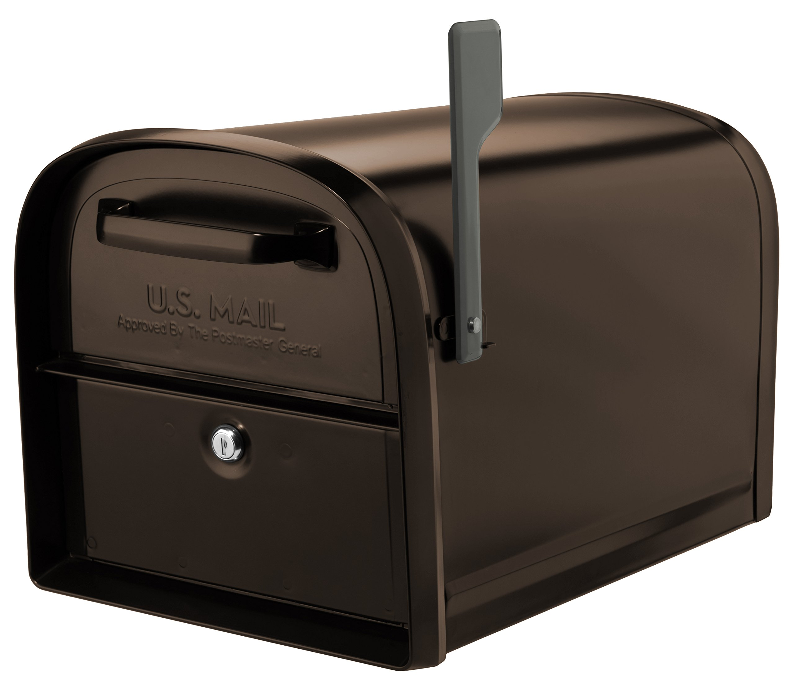 Architectural Mailboxes 6300RZ Oasis 360 Locking Parcel Mailbox with 2-Access Doors X-Large Rubbed Bronze