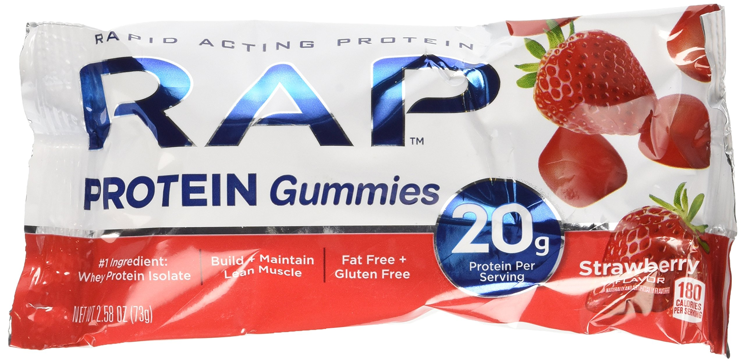 RAP Protein Gummies Strawberry Flavor pack of 12