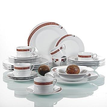 meilleur site web 43a3c b7886 30pcs Service de Table 6pcs pour Assiette Plate, Assiette ...