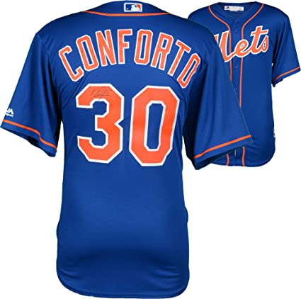 low priced fd2d0 2f1f0 Michael Conforto New York Mets Autographed Majestic Blue ...