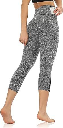 ODODOS High Waist Yoga Pants Tummy Control Workout Running 4 Way Stretch Yoga Leggings Hidden Pocket