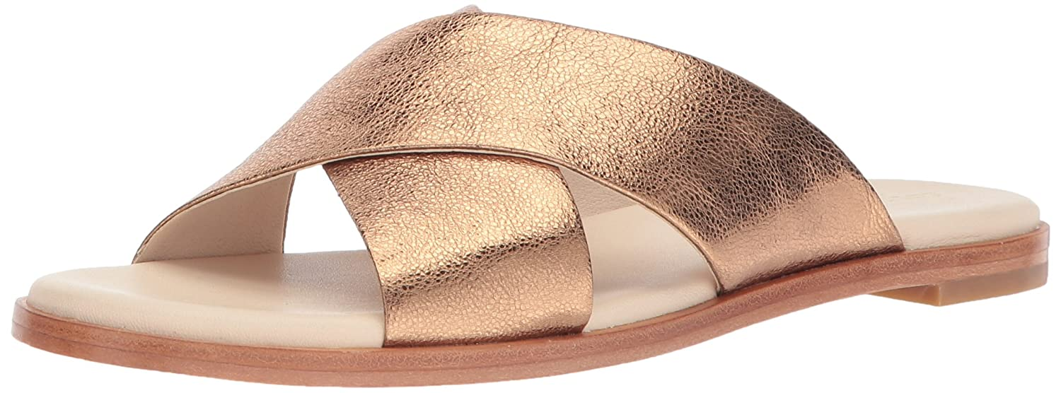 Cole Haan Women's Anica Criss Cross Slide Sandal B06ZZGFFFS 10.5 B(M) US|Gold Glitter