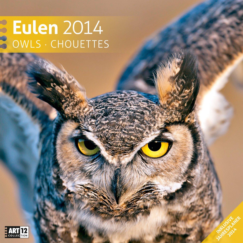 Eulen 2014 Art12 Collection: Broschürenkalender. Inlusive 10 beliebig oft verschiebaren Markern