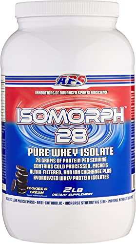 APS Nutrition IsoMorph, AAA-rated Pure Highest Quality Whey Isolate Protein Supplement, Cookies N Cream, 2 Pound