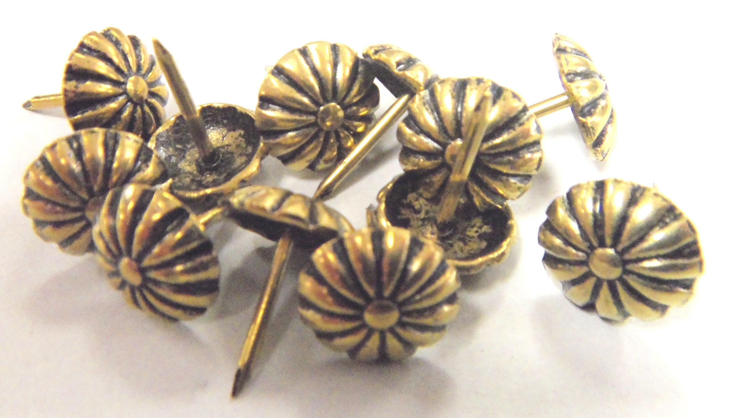 Rosette Floral Daisy Head Decorative Tack Nail Upholstery Stud 1,000pcs Antique Gold