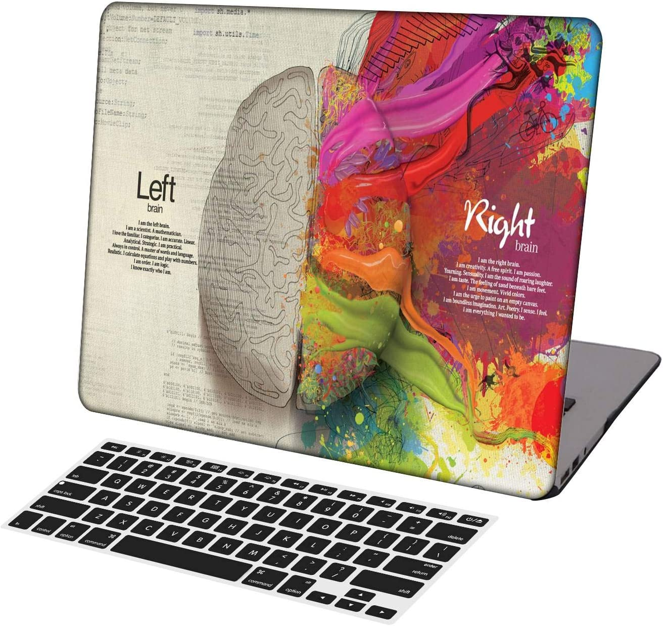 KSK KAISHEK Laptop Case for MacBook Air 13 inch(2018-2020 Release,Retina Display,M1) Model A2337 A2179 A1932,Plastic Hard Shell Keyboard Cover,Left and Right Brain