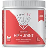pawlife Hip and Joint Supplement for Dogs - 120 Natural Soft Chews formulated with Glucosamine, Chondroitin, MSM, and Organic Turmeric for Advanced Joint Support in Dogs of All Ages