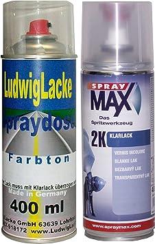 Lb7z Satinsilber Für Vw Premium Spray Set Autolack 2k Klarlack Je 400ml Auto