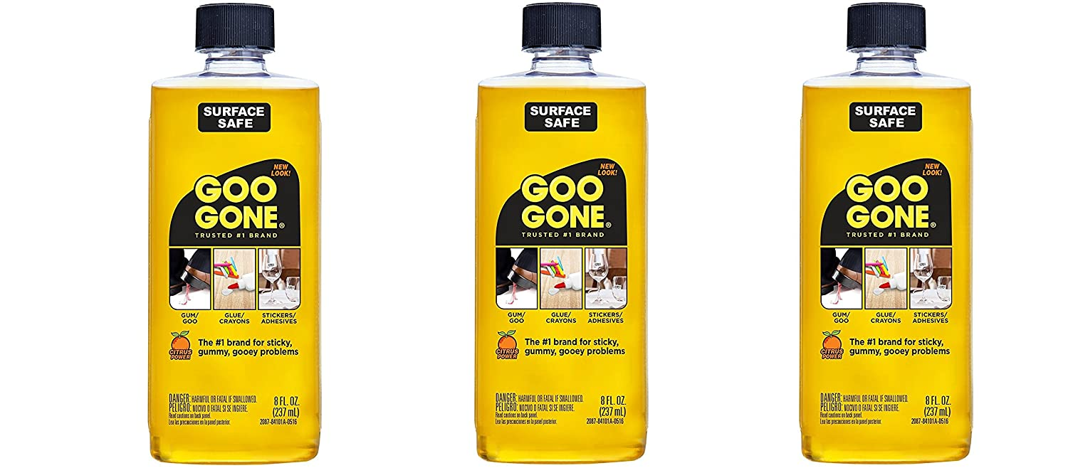 Goo Gone Surface Safe vhOrdY Adhesive Remover, 8 oz (Pack of 3)