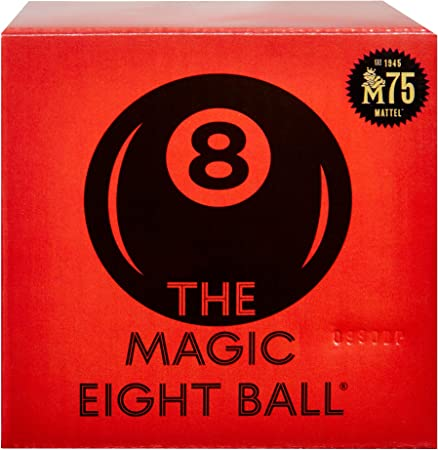 Magic 8 Ball Mattel 75th Anniversary Fortune-Telling Novelty Toy with Floating Answers, Great Gift for Ages 6 Years & Older [Amazon Exclusive]