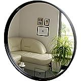 Modern Round Framed Mirror, Wall Mirror, 50 cm diameter, Wood, Color Black