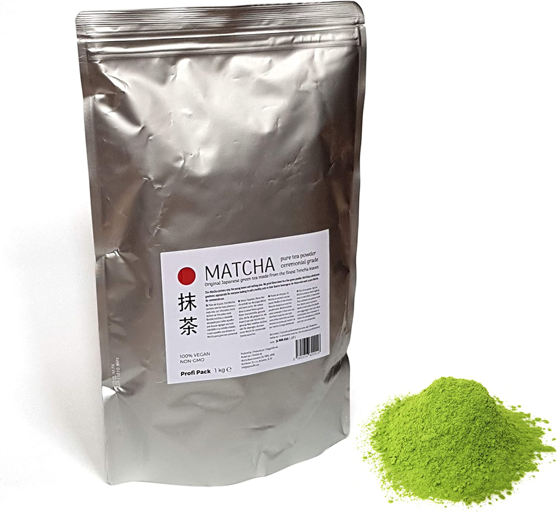 Matcha - Té puro en polvo - Grado Ceremonial - 1 kg bolsa Profi ...