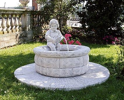 Fontane Da Giardino Siracusa Diam Cm140x85h Patinato Antichizzata