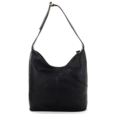 Black Designer Leather Look Slouch Bag Ladies Hobo Bags: Amazon.co ...