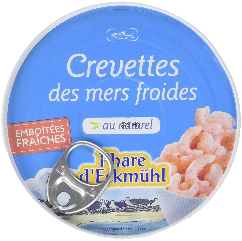 Phare d'Eckmül Crevettes des Mers Froides au Naturel Bio 100 g - Lot de 2