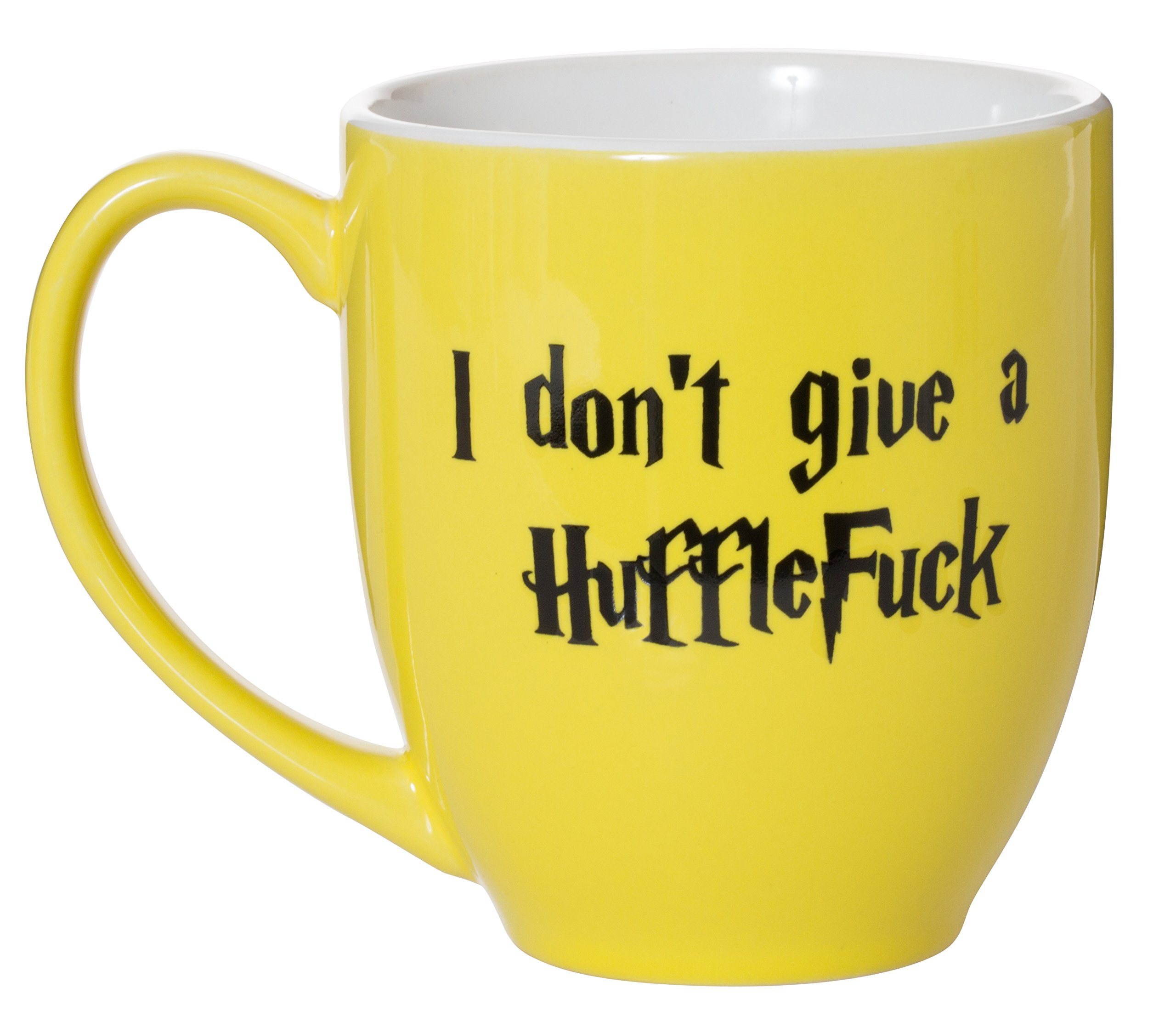 I Don't Give A HuffleFuck - 15oz Bistro Deluxe Double-Sided Coffee Tea Mug (HuffleFuck) by Artisan Owl (Image #3)