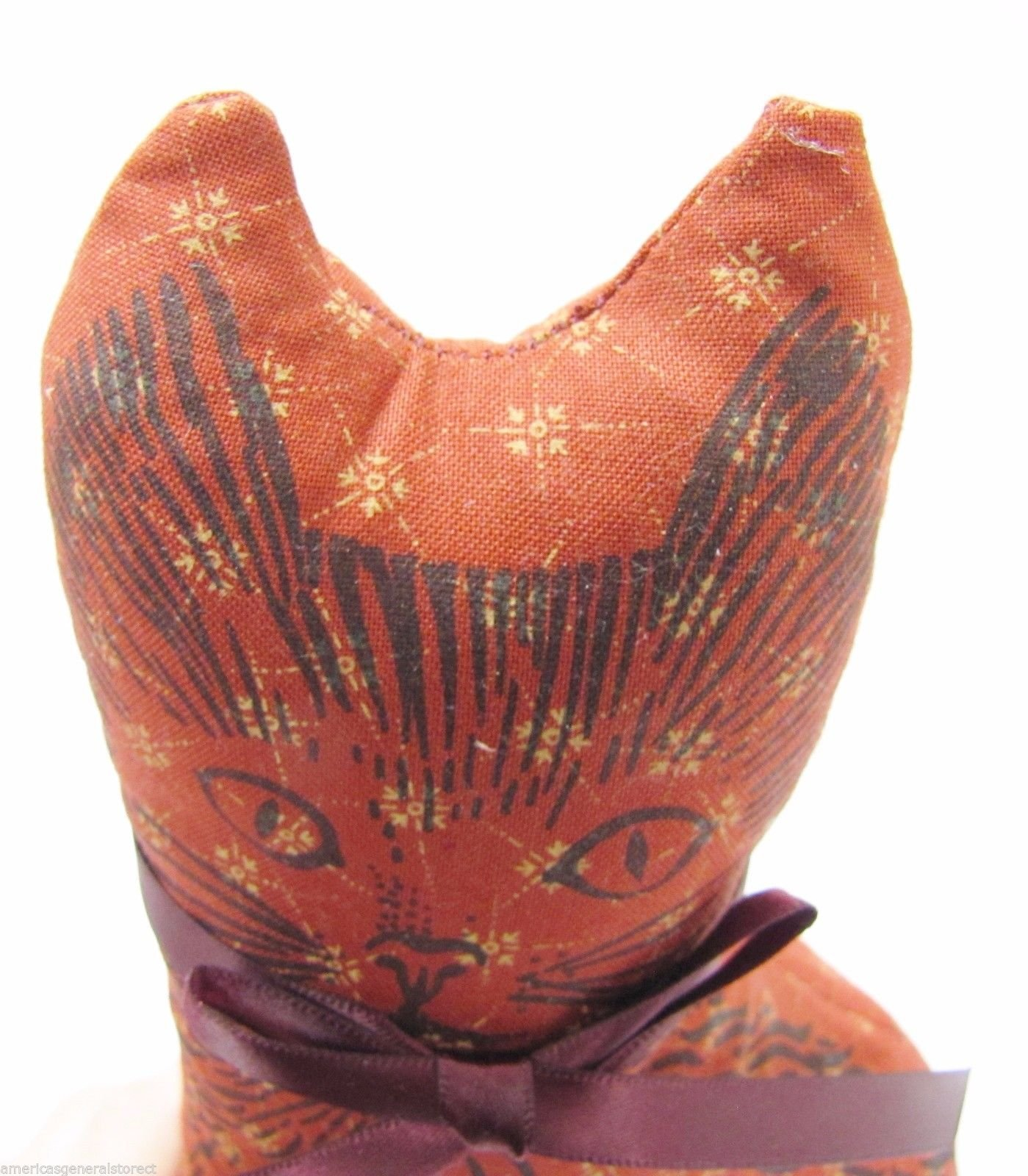 Paine's BALSAM FIR PILLOW 8''x4.5'' CAT SHAPE pine tree sachet scent RUSTY RED by Paine's (Image #3)