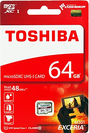 Toshiba 64GB Exceria M301 MicroSD Tarjeta SDXC, Sin ...