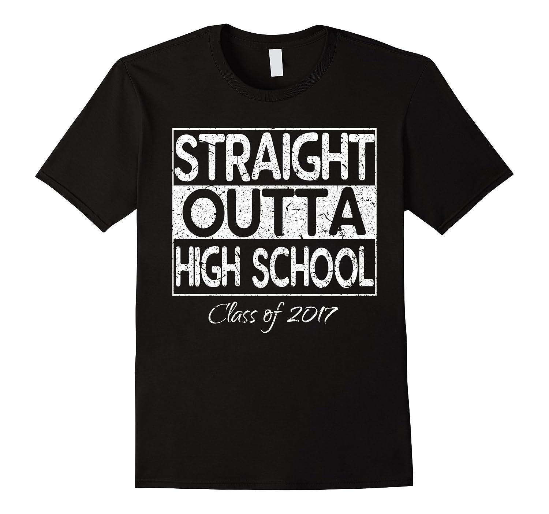Straight Outta High school Grad Gift Tee - Graduate Shirt-Vaci