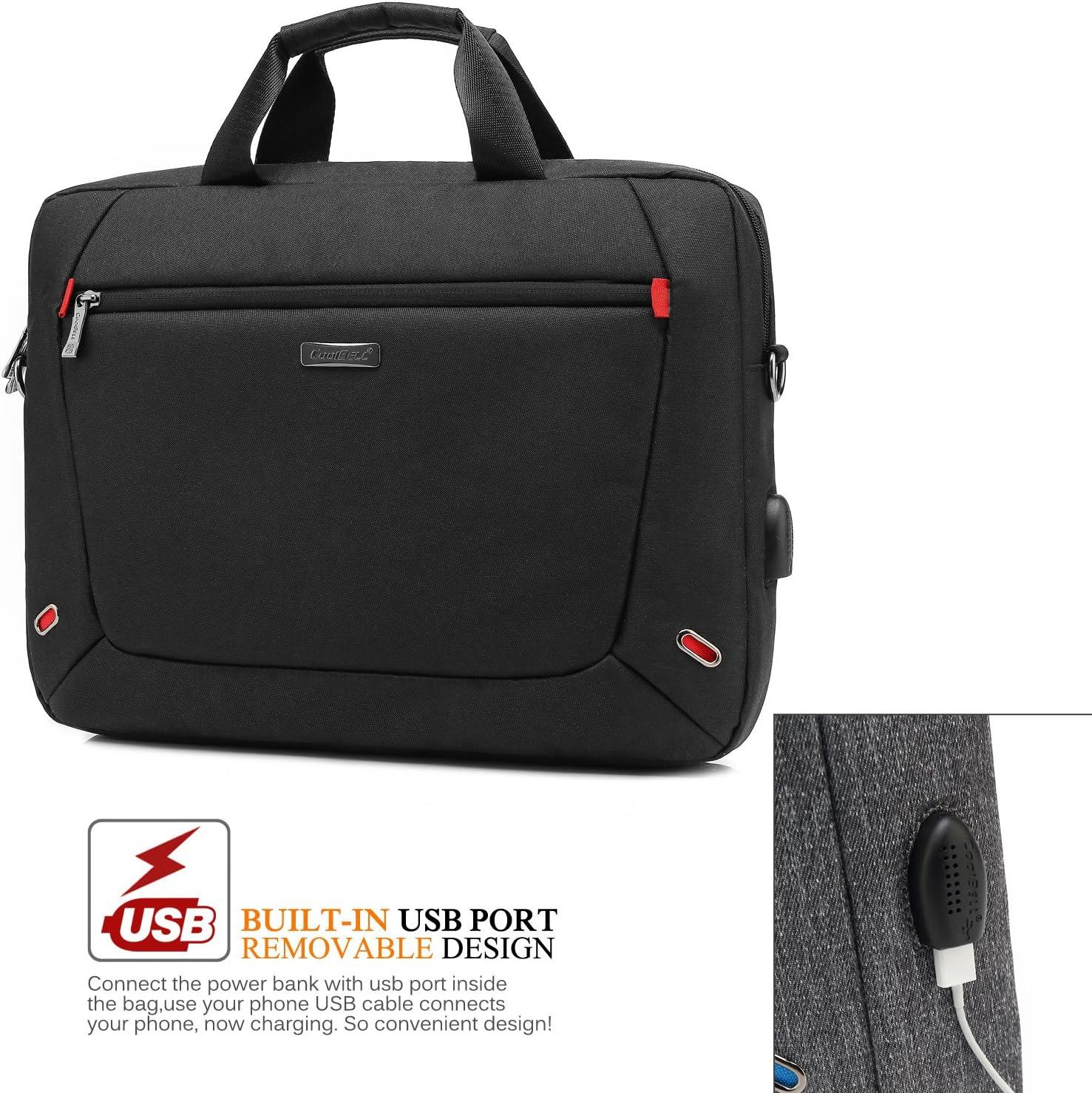 UTOTEBAG 17,3 Zoll Laptop Tasche Businesstasche Umh/ängetasche Messenger Bag M/änner Notebooktasche Laptoptasche f/ür Notebook Computer Business Aktentasche Herren,Schwarz