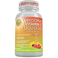 LIPOSOMAL Vitamin C Liquid Gel Organic Acerola Cherries & Sunflower Lecithin, Enhanced...