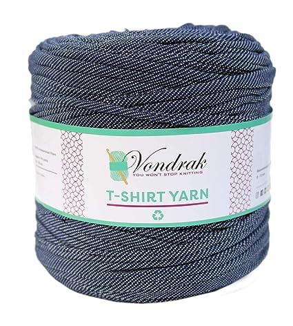 T-Shirt Yarn Recycled 130 Yards 1 5 lb Bulky Yarn│Jersey Yarn│Fabric Yarn  │T Shirt Yarn for Crochet │ Knitting Tshirt Yarn │ Home Decor DYI