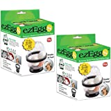 EZ EGGS Set/2 Hard Boiled Egg Peelers, 3 Egg Capacity Each – Handheld Specialty Kitchen Tool Peels Egg Shells in Seconds (As Seen on TV)