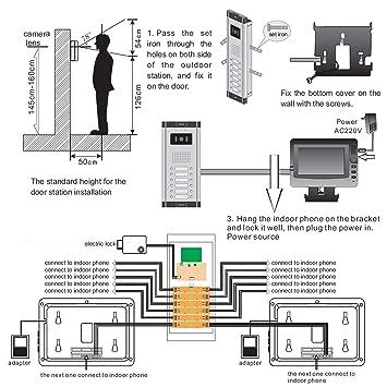 Amazon.com: WOLILIWO - Cámara de timbre para puerta de vídeo ... on