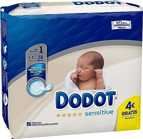 Dodot Protection Sensitive Pañales Talla 1 - 28 Unidades: Amazon ...
