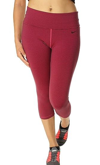 Nike Women's Legend 2.0 Tight Fold Over Waistband Training Capris-Vivid Pink /Black-