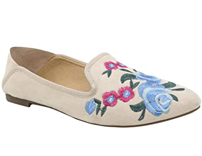 03b11ff37af6 MaxMuxun Women Convenience Flat Shoes Chinese Traditional Embroidery  Ballerina Loafer Ladies Floral Slip on Pumps UK7