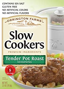 Orrington Farms Slow Cookers Tender Pot Roast Seasoning Mix, 2.5 oz (Pack Of 12)