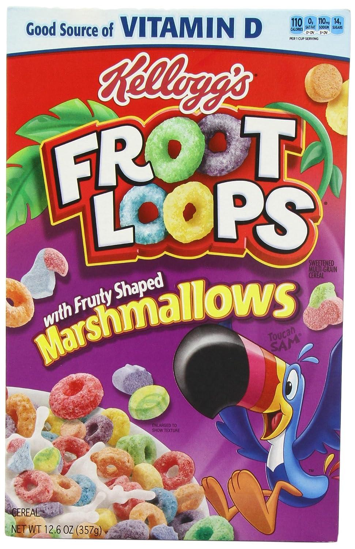 kelloggs fruit loops marshmallows 357 g pack of 4 amazon co uk