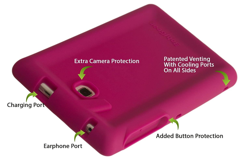 SM-T285 Rosa Bobj Funda Protectora BobjGear Carcasa Resistente para Tablet Samsung Galaxy Tab A 7 Inch SM-T280