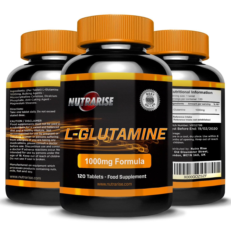 Glutamina. L-Glutamina de la mejor calidad. Suplemento de aminoácidos. Importantes beneficios. Ayuda al crecimiento muscular.